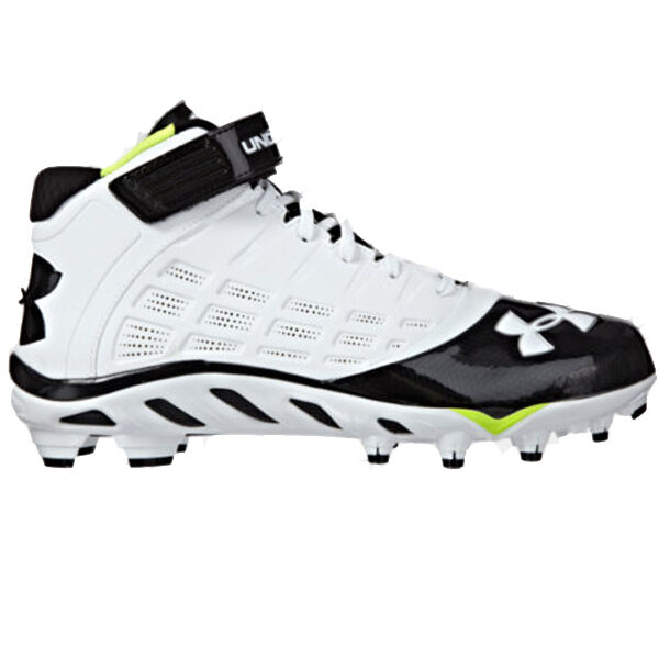 Under Armour UA Spine Fierce Mid MC Uomo Football Cleats 1237800-101 1237800-101 Cleats MSRP  100 093282