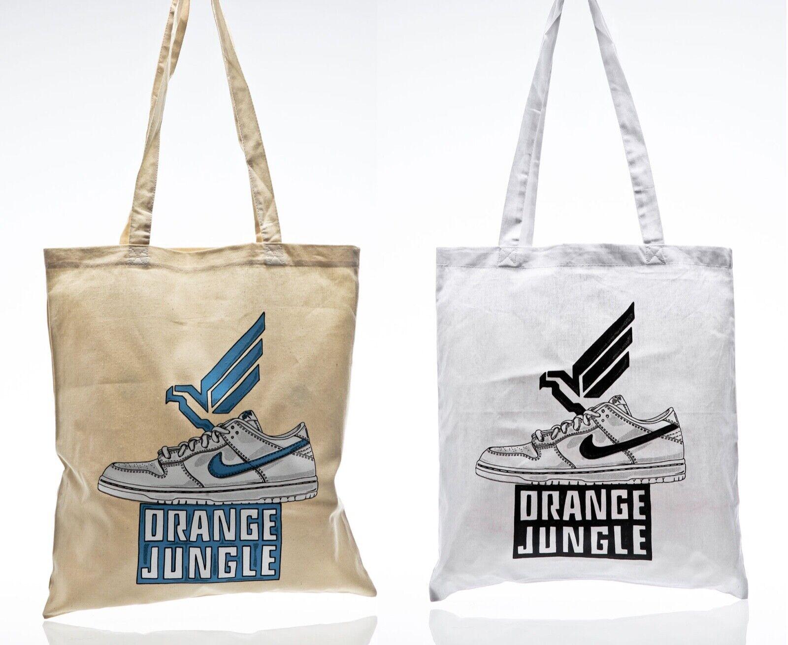 Orange Jungle SB Dunk Bag Mulder White Cream Jute Bag Tote Bag