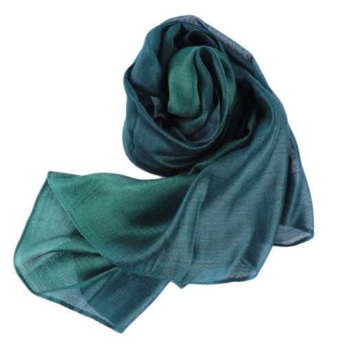 Women Scarf Beach Shawls Gradient Silk Foulard Hijab Shawls Scarves Bandana S