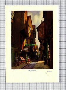 C6588-YORK-The-Shambles-Leonard-Squirrell-c-1950-Print