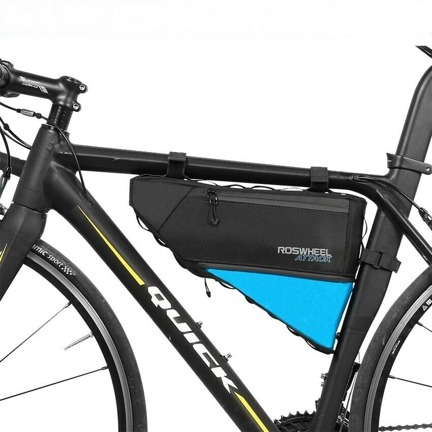 Ciclismo bolsa delantera caja de vidrio tubo silla teléfono celular bolsa de bicicleta batería