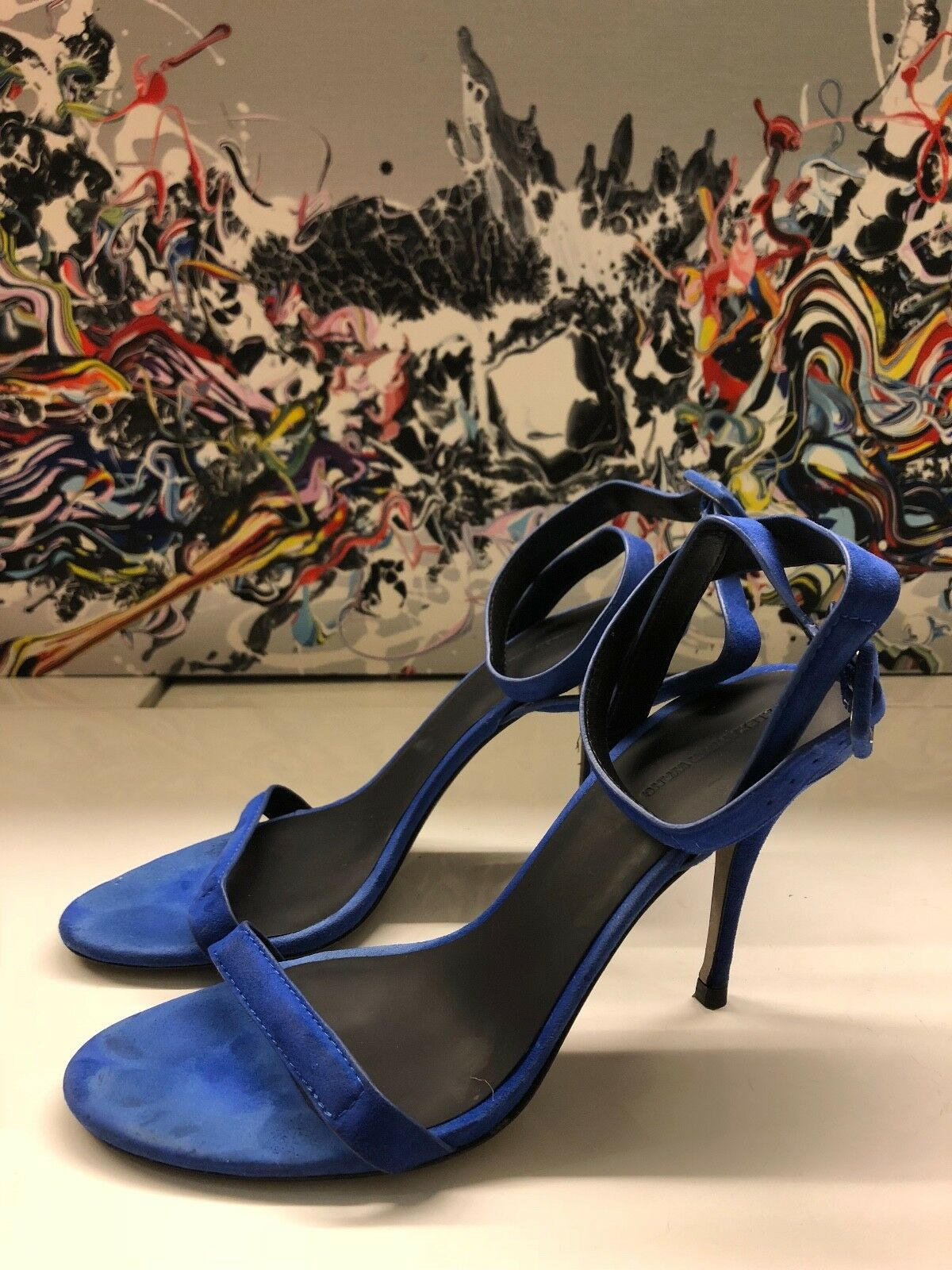 Alexander Wang Suede Leather Strap Heels in bluee  Pumps shoes Cady