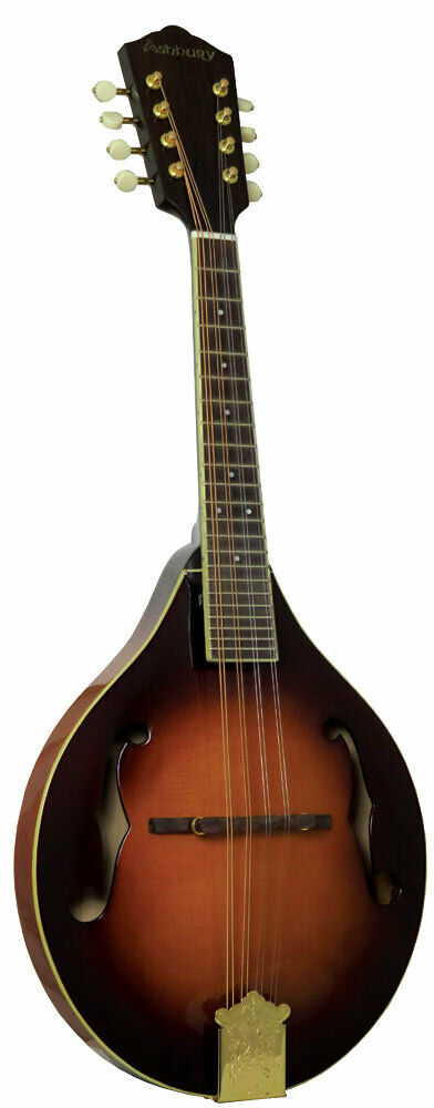 Ashbury AM-410 A-Style BlauGRASS MANDOLIN, Solid carved spruce top, maple body.