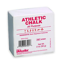 Mueller Athletic Gymnastic Weightlifting Chalk - 2 Oz Bar