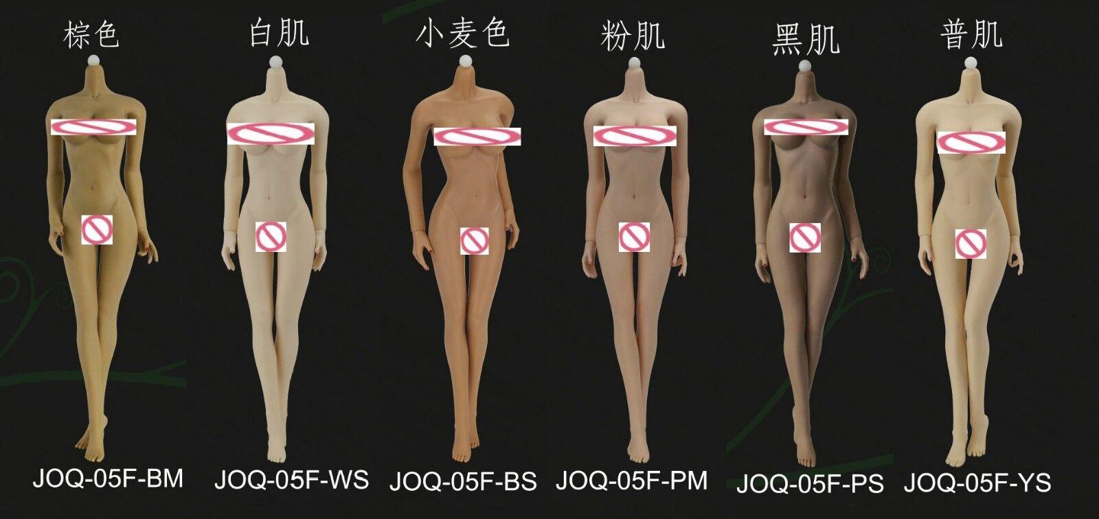 1 6 JIAOU DOLL Flexible European groß bust Körper Non Dismantle Foot Female Figure