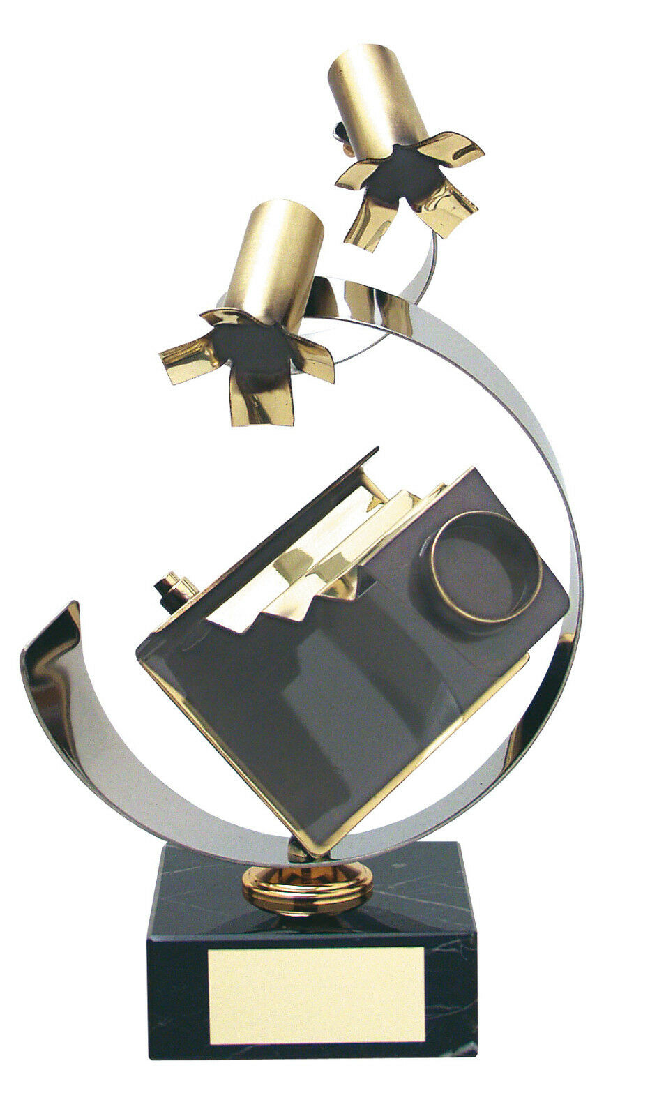 HANDMADE METAL CAMERA PHOTOGRAPHY TROPHY GIFT QUALITY FREE POSTAGE & ENGRAVING