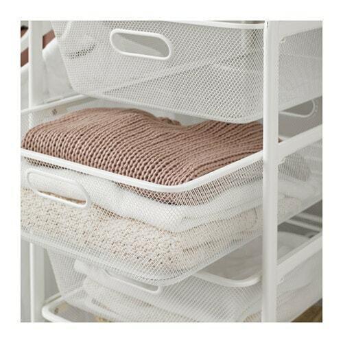 *new* Algot Mesh Basket White 38 X 60 X 14 Cm & 38 X 60 X 29 Cm *brand Ikea* In Veel Stijlen
