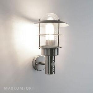 Details Zu Außenleuchte Außenlampe Wandleuchte Edelstahl Wandlampe Bewegungsmelder 251
