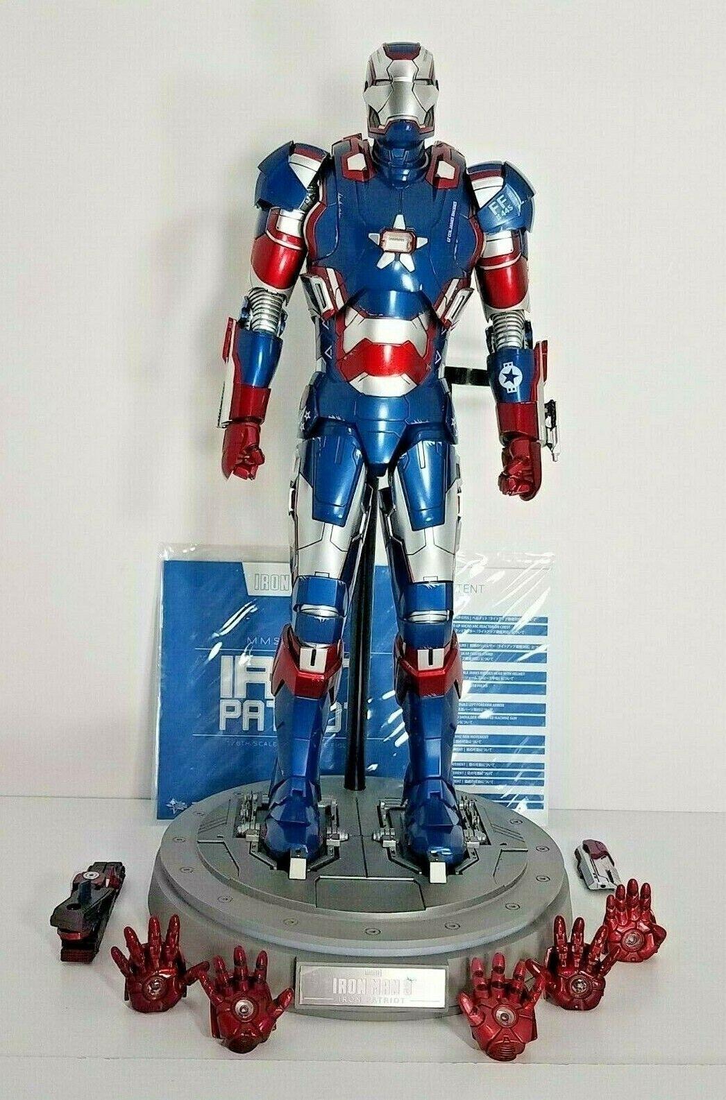 HOT TOYS 1 6 MMS195D01 Iron Man 3 JAMES RHODES Rhodey DIECAST IRON PATRIOT -HEAD