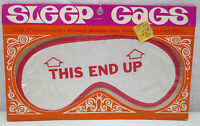 Vintage Sleep Gags Sleep Mask Sparky Chicago this End Up In Package Retro