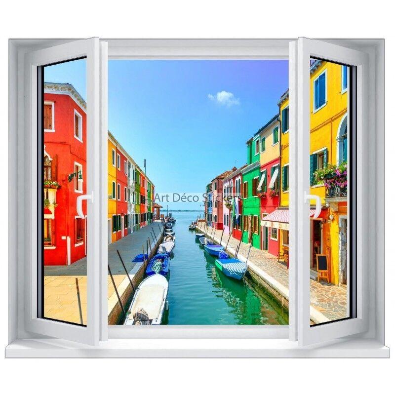 Aufkleber Schein die die die Auge (Scheinbild) Fenster Dorf Farb- und Meer 5317 5317 0d8e90