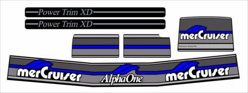 MERCRUISER BLUE  ALPHA ONE GEN TWO  W//GRAY RAMS STICKER SET