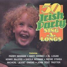 50 Irish Party Sing-A-Longs by Various Artists (CD, 1995, Rego Irish Music)