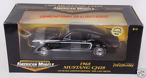 punto de venta 1968 Mustang Cj 428 Belleza Negra American American American Muscle Ertl Nuevo  Entrega rápida y envío gratis en todos los pedidos.
