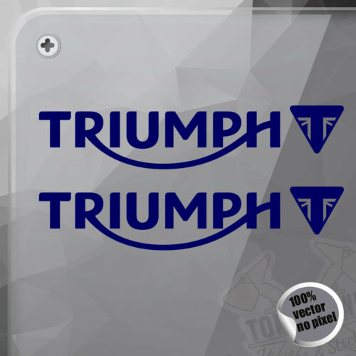 PEGATINA TRIUMPH TEXT AND LOGO DECAL VINYL STICKER AUTOCOLLANT