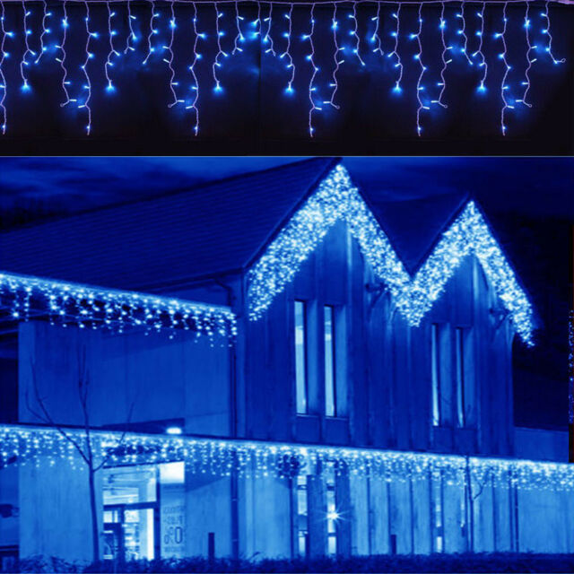 Led Christmas Fairy Icicle Home Curtain Lights Lamp Xmas In Outdoor Waterproof