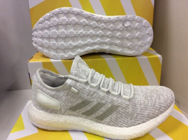 aefb6dc16 adidas Pureboost White Grey Men Running Shoes SNEAKERS S81991 UK 9.5 ...