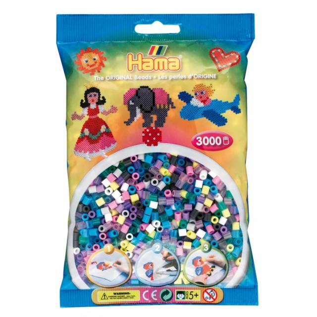 Kreativsets für Kinder Kreativset-Bügelperlen für Kinder Hama Perlen Pastell gemischt 3.000stueck 1beutel günstig kaufen