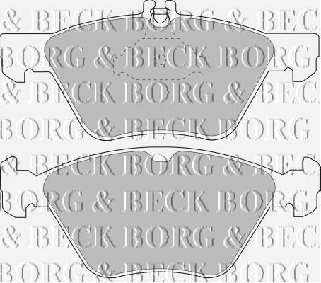 FRONT  BRAKE PADS FOR MERCEDES-BENZ GENUINE OE BORG /& BECK  BBP1393