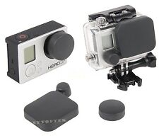 Camera Lens Cap Cover + Housing Case Protector for Gopro Hero 3+ 4 Accessories