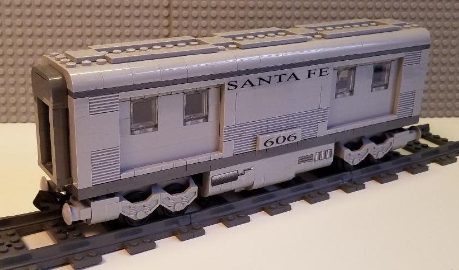 Lego Tren Santa Fe equipaje coche -- por favor lea la descripción del artículo --