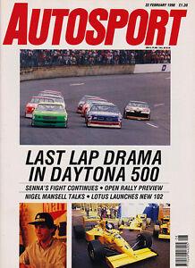 Details about Autosport 22 Feb 1990 - Senna, Daytona 500, Nigel Mansell,  Paul Stewart Racing