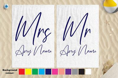 "58x39/"" Any Colour Wifey Design Microfibre Beach Towel Wedding Gift"