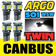 4 X T10 501 W5W CAN-BUS 5000K INTERIOR WHITE LED 5-SMD BULBS TWIN