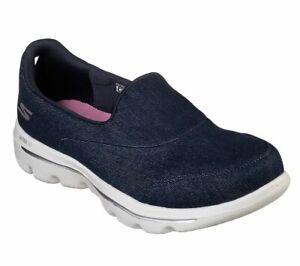 Détails sur Skechers Gowalk Evolution Ultra Belief X Baskets Toile Chaussures pour Femmes