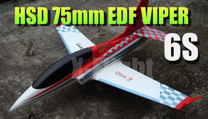Hsd epa viper rote 75mm eef elektrische abgeleitete fan jet einer pnp - version