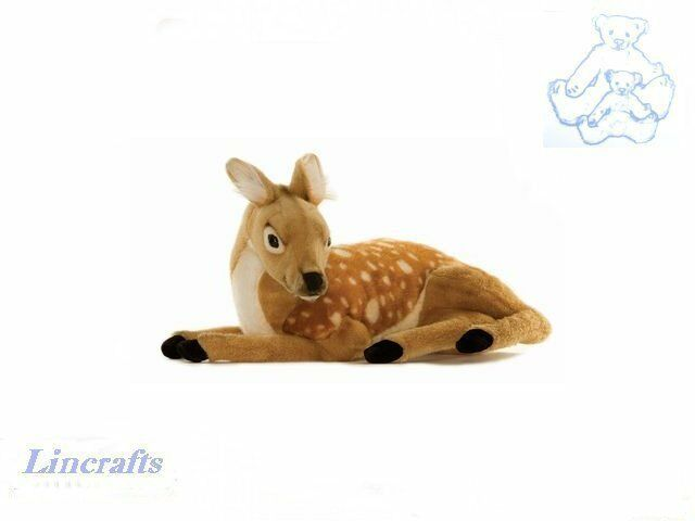 Hansa Lying Deer 3412 Plush Soft Toy Sold by Lincrafts Established 1993