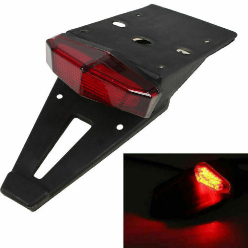 Universal Off Road Motorcycle LED Tail Light Brake License Plate Stop Taillight