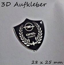 Opel Motors 3D Logo Aufkleber- Abzeichen Set für Schlüssel, Handy, Chrom-Effekt