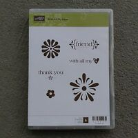 Stampin' Up With All My Heart Clear Mount Stamps Thank You Friend