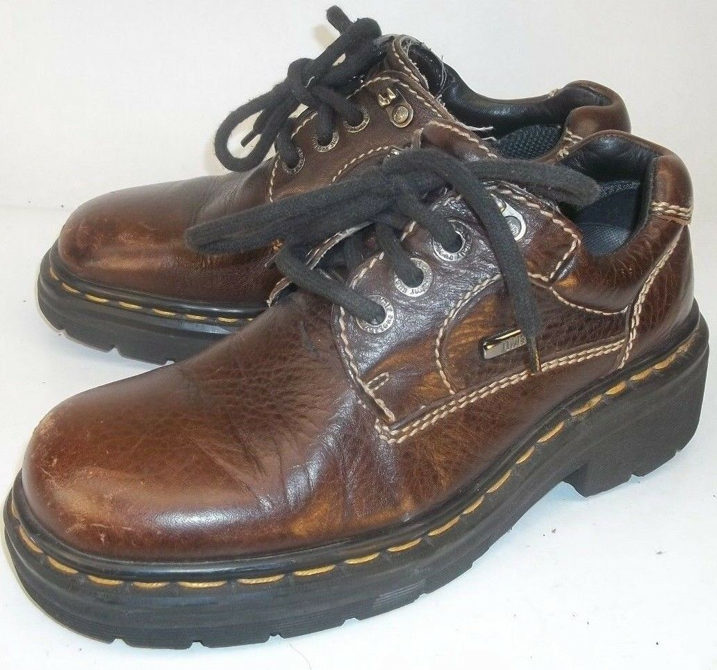 Dr. Martens Damenschuhe UK 5 Braun Leder Lace Up Casual Oxfords Air Cushioned Schuhes