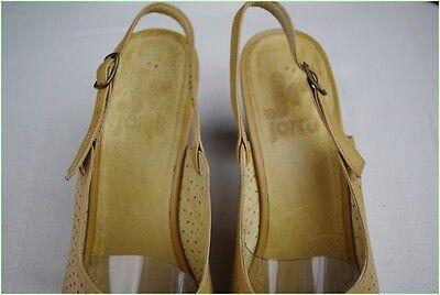 VINTAGE Sandalen Offene Schuhe JORKA Vollleder Beige dunkel T 41
