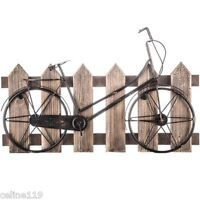 Metal Bicycle On Wood Fence Wall Decor (men's Bike Gallery Art) No Tax