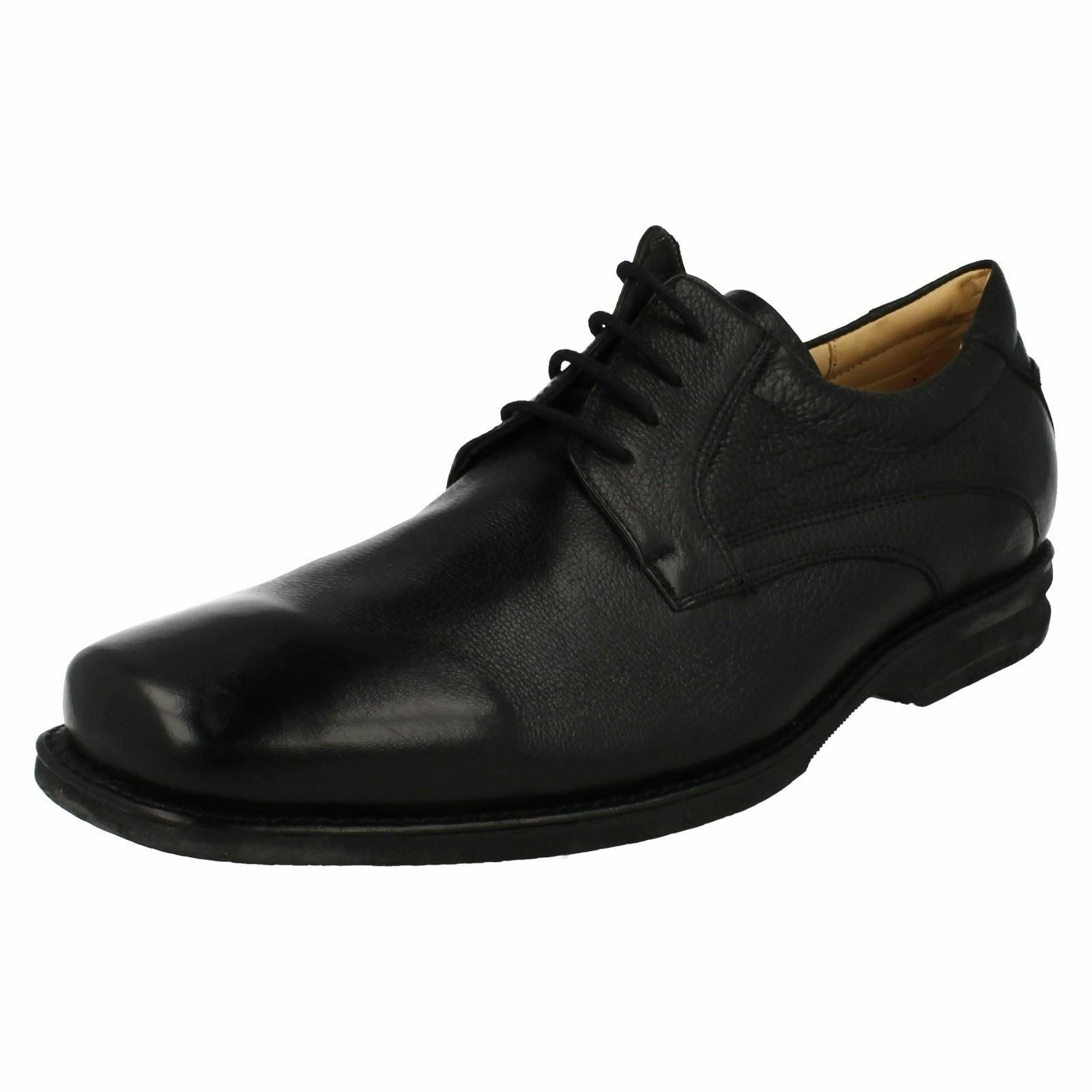 Mens Passos Black Leather Lace Up Shoes By Anatomic Gel Retail Price 100.00