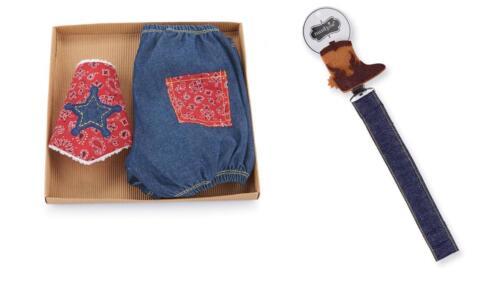 Mud Pie Baby Wild West Diaper Cover Cowboy Bib Boot Pacy Pacifer Clip Set New