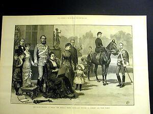 Prince-and-Princess-of-GERMANY-Silver-Wedding-Berlin-1883-Large-Folio-Engraving