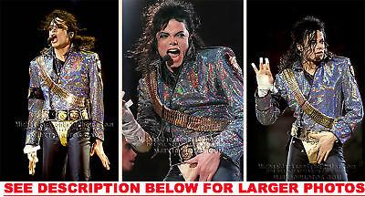 MICHAEL JACKSON DANGEROUS TOUR CHRPKR 3xRARE8x10 PHOTOS