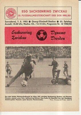 Chemie Buna Schkopau OL 81//82  BFC Dynamo Berlin