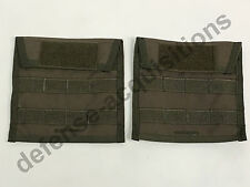 """SET OF 2 MSAP Side Plate Carriers (Fits 6x6"""" Plate) Pouch RANGER GREEN"""