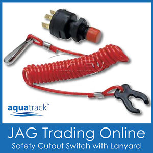 12V-ENGINE-SAFETY-CUT-OUT-IGNITION-KILL-SWITCH-LANYARD-Boat-Outboard-PWC
