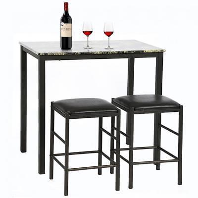 Dining Kitchen Table Dining Set Marble Rectangular Breakfast Wood Dining  Room | eBay