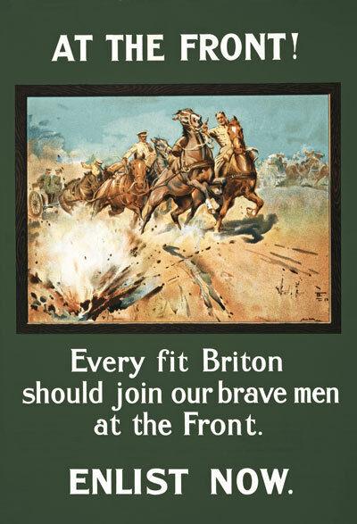 W88 Vintage 1915 WWI British Every Fit Briton Enlist Army War Poster WW1 A4
