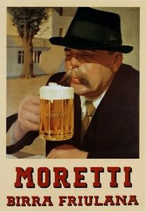 Birra-Moretti-Italian-Retro-Beer-Pub-Shed-Bar-Man-Cave-Metal-Vintage-plaque-SIGN
