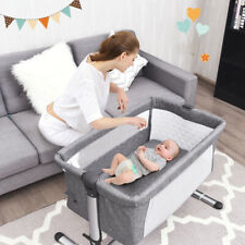 Portable Baby Bed Side Sleeper Infant Bassinet Crib W/Carrying Bag Grey