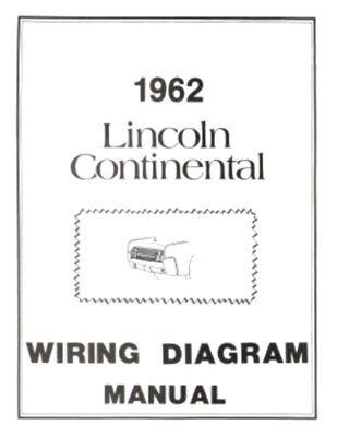 lincoln 1962 continental wiring diagram manual 62   ebay  ebay