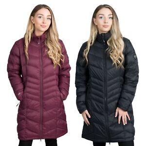 Trespass-Womens-Down-Jacket-Long-Length-Lightweight-Puffer-Micaela